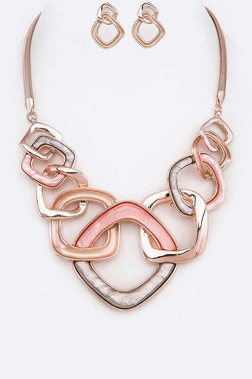 Rose Gold Link Necklace