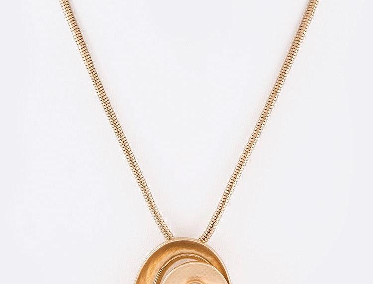Gold Circle Jewel Necklace