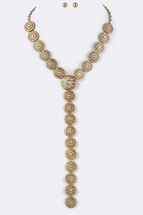 Gold Long Hanging Necklace