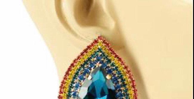 Rainbow Tear Earrings