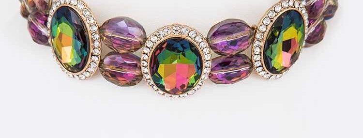 Colorful Crystal Chocker