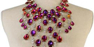 Jeweled Chandelier Necklace