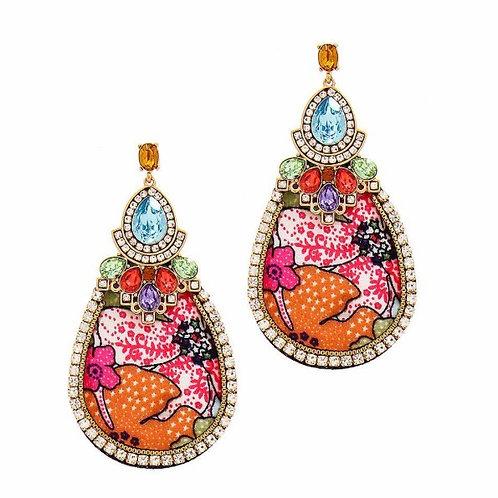 Fabric Design Studded Earrings