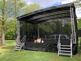 Anhänger Bühne Mobile Bühne EventService