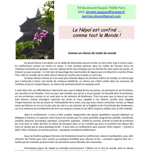 Newsletter Avril 2020