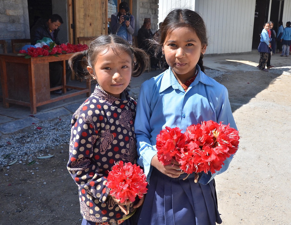 inauguration ecole gairimudi, garuda nepal