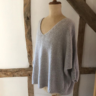 Stylish mohair blend jumper in silver gr