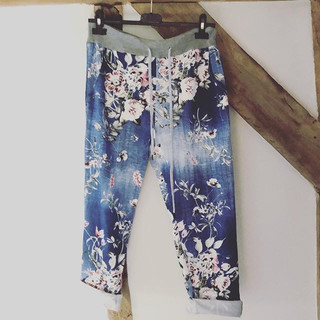 Stone washes effect denim jogger with pr