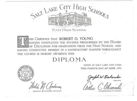Dr. Young's Salt Lake City High School Diploma