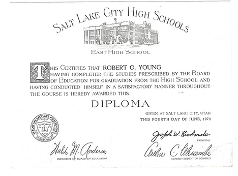 Dr. Young's Salt Lake City High School Diploma