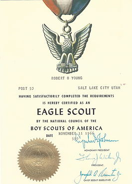 Dr. Young's Eagle Scout Certificate