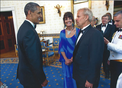 Dr. Young meeting President Obama