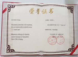 Dr. Young China Honorary Recognition c. 2000