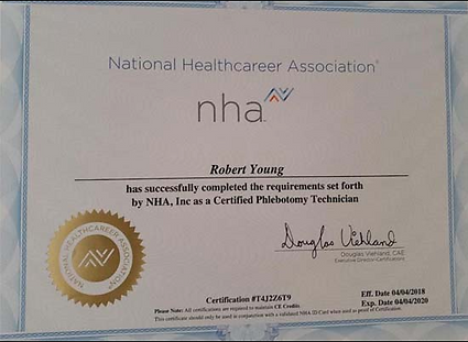 Dr. Youn Phlebotomist certificate
