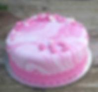 designed cake whit fondant