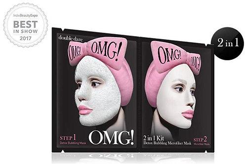 OMG! 2In1 Kit Detox Bubbling Microfiber Mask
