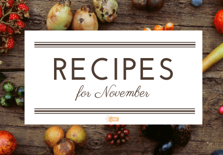 Recipes for November