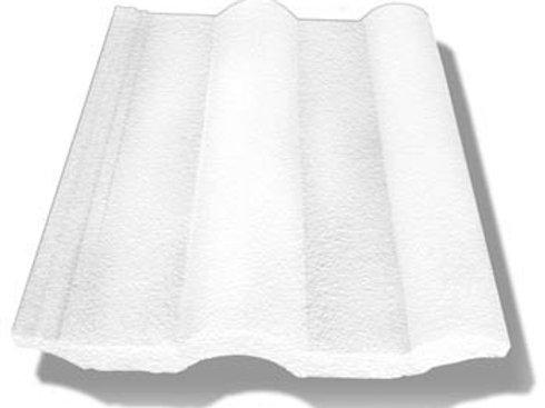 Teja de concreto Modelo Romana - Blanco