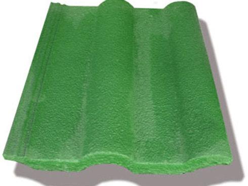 Teja de concreto Modelo Romana - Verde