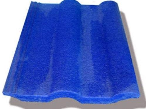 Teja de concreto Modelo Romana - Azul