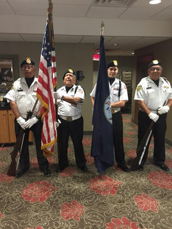 Color Guard from VFW Post in San Antinio