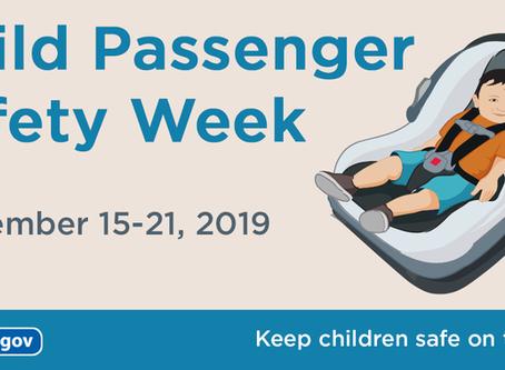 Child Passenger Safety Week!