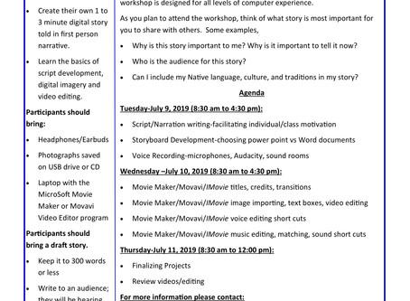 Motor Vehicle Safety Digital Storytelling Workshop  |  July 9 -11