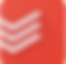ToDoIst Logo, a red square with 3 white arrow heads pointing down to the far left side