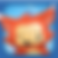 Booster Buddy Logo, a cartoon fox figure on a light blue background with darker blue border