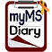 My MS Diary Logo, a clipboard with myMSDiary printed on it in black