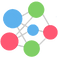Mood Triggers Log, small green, blue, and pink circles arranged to form a larger circle