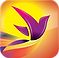 Recovery Record Logo a purple toned bird figure on yellow and orange background