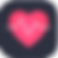 Heart Rate Monitor Log, a pink heart on black background with a white heartbeat line through the middle