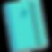 Journaly Logo, A teal moleskin style journal