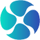 Diabetes Logo, blue gadient peal shapes arranged in a circle