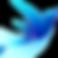 Fast FODMAP Lookup & Learn Logo, a flowy blue bird figure