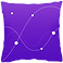 Pillow Logo, a square pillow shape in purple with constellations on it in white