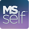 MS Self Log, a purple gradient background with MS Self written in white