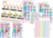 Sticker sheet sets for tracking various health aspects including sleep, pain, and more