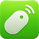 Remote Mouse Logo, a white computer mouse on a lime green background