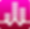 White Noise Logo, white volume bars on a dark pink background