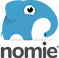 Nomie 2 Logo, a blue cartoon elephant
