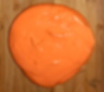 A glob of orange putty