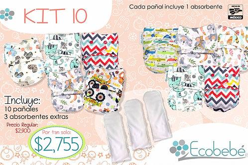 Kit 10 pañales