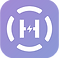 Helpilepsy Journal Logo, a pale purple square with a broken white circle with an H in the center.  The cross bar of the H is a lightening bolt