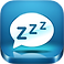 Sleep Well Hypnosis Logo, A bed with a speech bubble reading zzz above it on a blue background