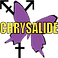 "Testo Memo Logo, a purple butterfly with male and female symbols jutting from behind 2 of the wings and the yellow word ""chrysalide"" printed across the middle"