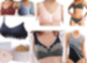 Cute and flirty bra styles with front closures and other post-mastectomy accessible oepnings, 2 post-mastectomy friendl swimsuits (one bikini and one one-piece), an elegant looking brest form