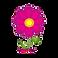 Period Tracker Deluxe Logo, a pink cartoon flower