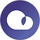 Plume Air Report Logo, a purple circle with a simple white cloud in the center